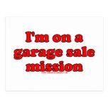 Im en una misión T de la venta de garaje Postal
