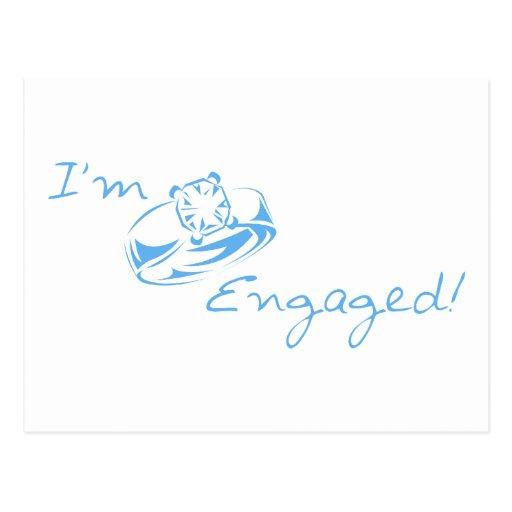 I'm Engaged (Blue Diamond Ring) Postcard