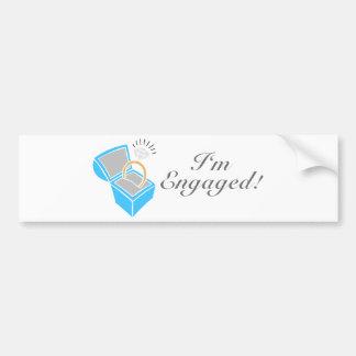 I'm Engaged (Diamond Engagement Ring Box) Bumper Stickers