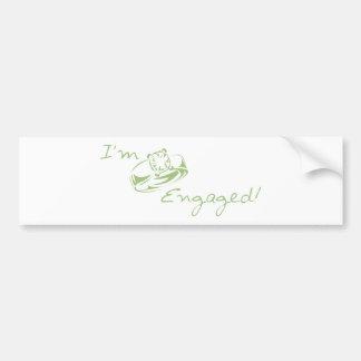 I'm  Engaged (Green Diamond Ring) Bumper Stickers