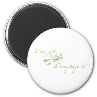 I'm  Engaged (Green Diamond Ring) Magnet