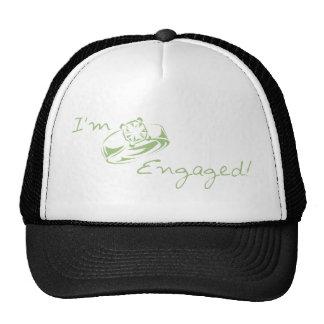 I'm  Engaged (Green Diamond Ring) Mesh Hats