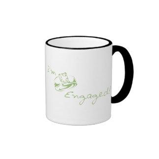 I'm  Engaged (Green Diamond Ring) Mugs