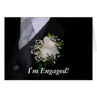 Im Engaged Greeting Card