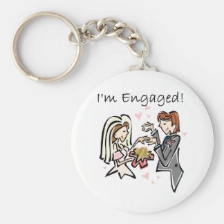 I'm Engaged Keychain