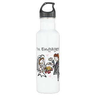 I'm Engaged Stainless Steel Water Bottle