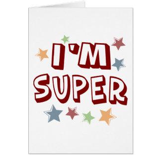 Im estupendo con las estrellas tarjeta de felicitación
