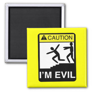 I'm Evil 2 Inch Square Magnet