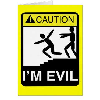 I'm Evil Card