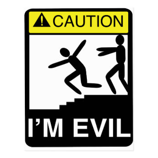 I'm Evil Postcard