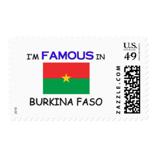 I'm Famous In BURKINA FASO Stamp