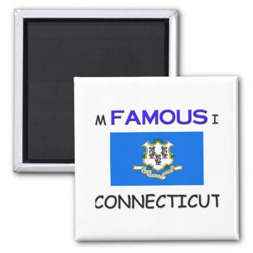 I'm Famous In CONNECTICUT Magnets