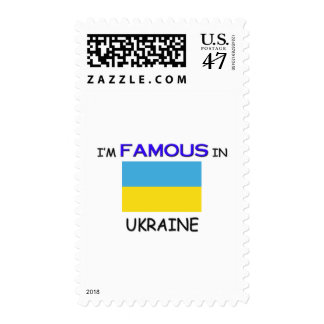 I'm Famous In UKRAINE Stamp