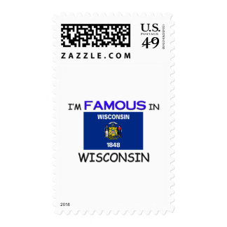 I'm Famous In WISCONSIN Postage Stamps