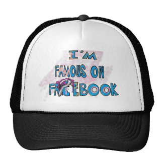I'm Famouse on Facebook Scene Bunny Shirts & stuff Trucker Hat