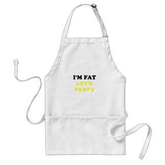 Im Fat Lets Party Adult Apron