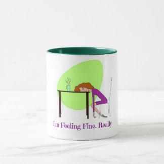 I'm Feeling Fine Fibromyalgia Awareness Coffee Mug