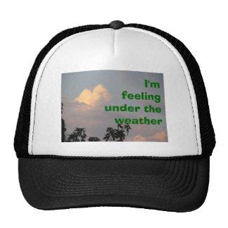 I'm feeling under the weather trucker hat