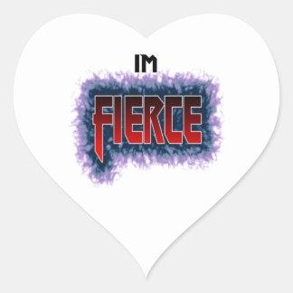 I'm Fierce Heart Sticker