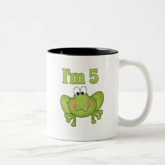 I'm Five Frog Tshirts and Gifts Two-Tone Coffee Mug