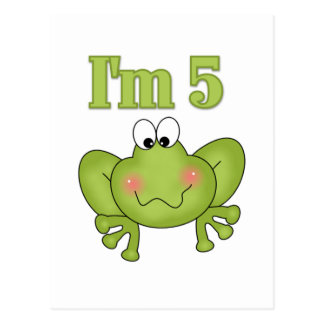 I'm Five Frog Tshirts and Gifts Postcard