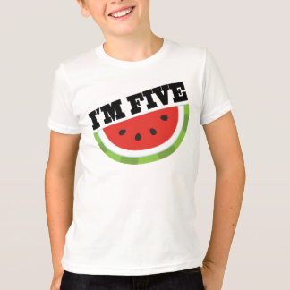 Im Five Watermelon Birthday T-Shirt