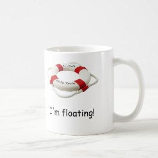 I'm floating classic white coffee mug