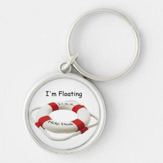 I'm Floating Premium Round Keychain