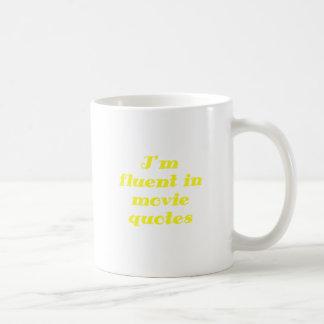 Im Fluent in Movie Quotes Classic White Coffee Mug