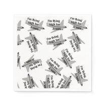 I'm Flying High for Jesus Patterned Paper Napkin