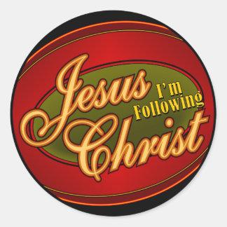 I'm Following Jesus Christ Stickers