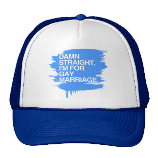 I'M FOR GAY MARRIAGE MESH HATS