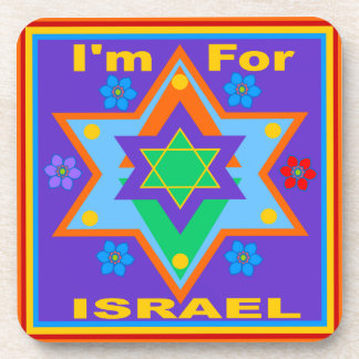 I'm For Israel Anemone Coaster