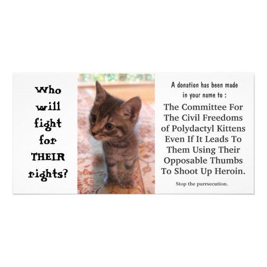 I'm FOR kittens on heroin Card