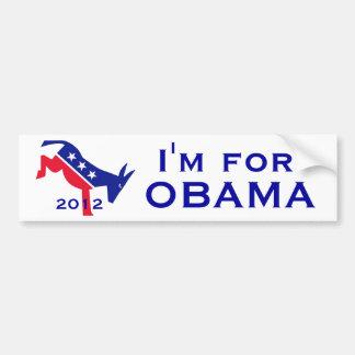 I'm for OBAMA bumpersticker Car Bumper Sticker