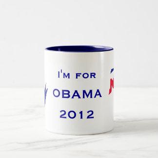 I'm for OBAMA mug