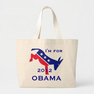 I'm for OBAMA tote bag