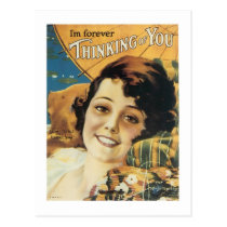 I'm Forever Thinking of You Songbook Cover Postcard