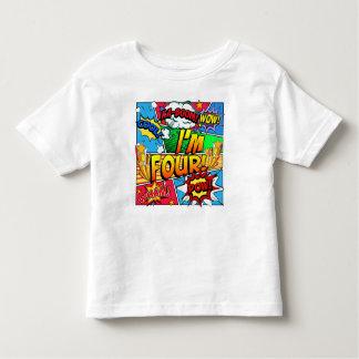 I'm Four Comic Book Toddler T-shirt