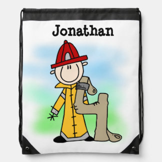 I'm Four Firefighter Drawstring Bag
