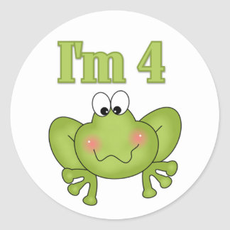 I'm Four Frog Tshirts and Gifts Classic Round Sticker