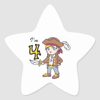 IM FOUR PIRATE STAR STICKER