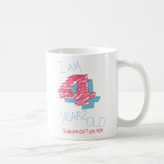 I'm four years old classic white coffee mug