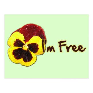 I'm Free Postcard