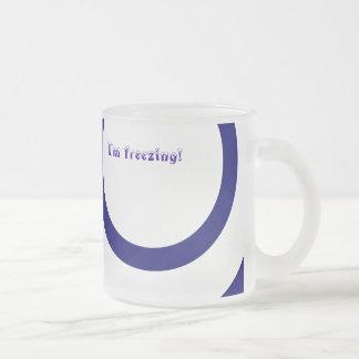 I'm freezing! 10 oz frosted glass coffee mug