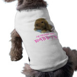 I'm Friends With Rabbits Doggie Tank Top - Pink Doggie T-shirt