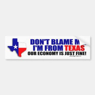 I'm From Texas Bumper Sticker