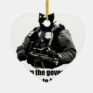 I'm from the government, I'm here to help you. Double-Sided Heart Ceramic Christmas Ornament