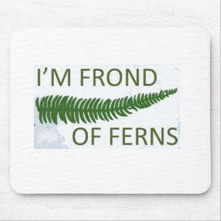 'I'm frond of ferns' fern leaf design Mouse Pad
