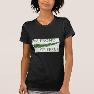 'I'm frond of ferns' fern leaf design T-shirts